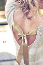 DIY: http://www.lovemaegan.com/2013/08/pretty-diy-bow-sweater-in-back.html