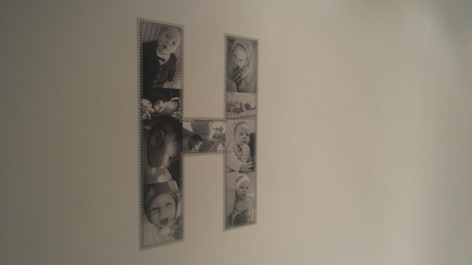 D☼m@ - nasledne washi paskami som pismena prilepila na stenu, zatial H-otove :-)