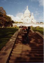 Na nejhezčím místě v Paříži-Sacre Coeur