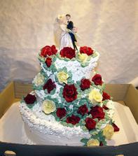 svadobná torta od rodičov