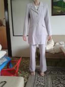 ružový kostým - sukňa, nohavice, sako, 34