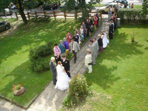 předání nevěsty:-)