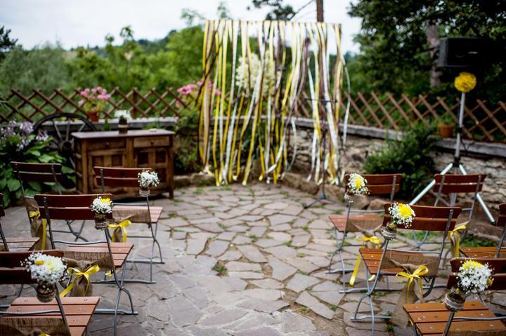 Ála{{_AND_}}Honza - Obřad se konal na terase restaurace Černý kohout
