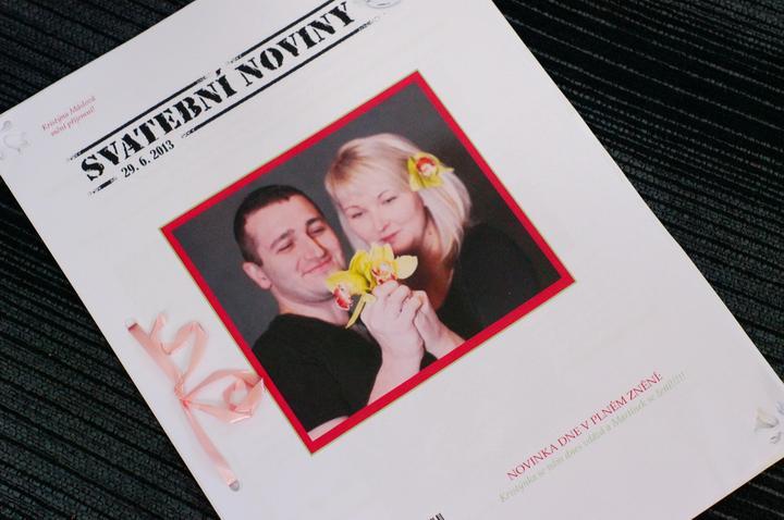 Výroba originálních svatební novin! - Svatební noviny Kristýna a Martin / vytvoření elegantních svatebních novin