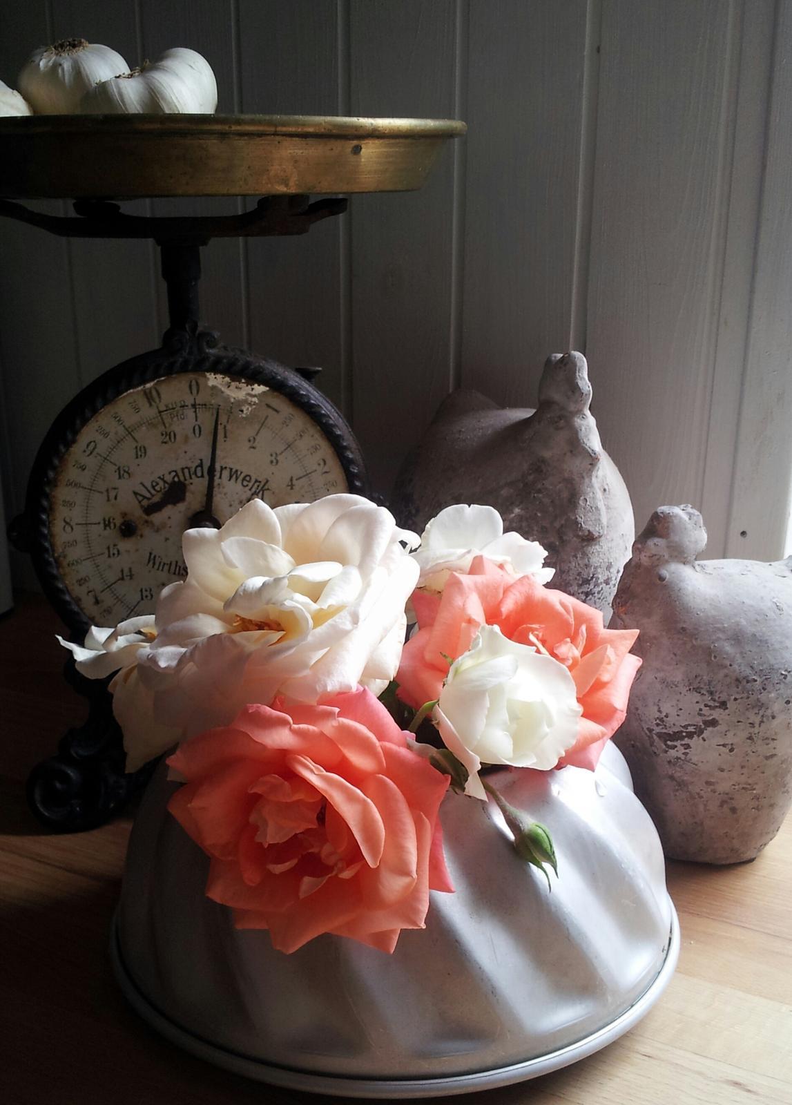 ..kuchyňa podľa mojich predstáv... - ...tip z nového Marianne bydlení na vázu zo starej bábovkovej formy......