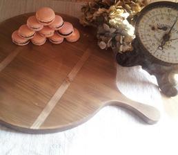 ..french macarons na dokonalom francúzskom servírovacom lopári od Adi @agregorov :-)
