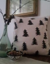 ..DIY stromčekový vankúš...podľa známeho vzoru od Fine Little Day....bude na Vianoce :-)