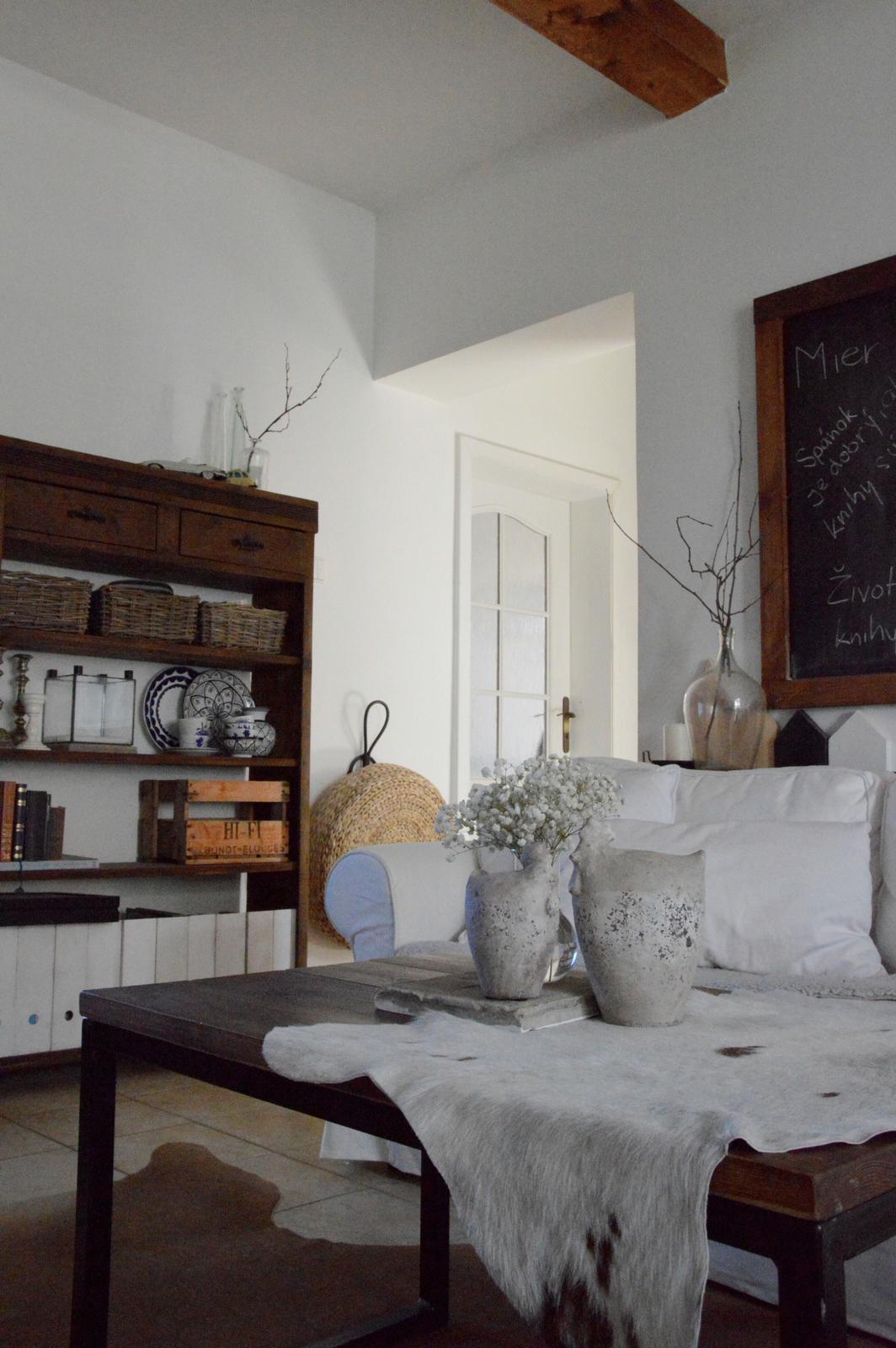 Home sweet home...... - ... v obývačke som veľkonočnú výzdobu vyriešila ešte jednoduchšie....