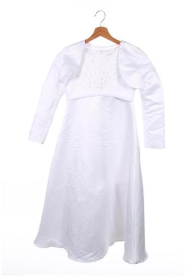 šaty veľ.  140 aj na prvé svate primanie - Obrázok č. 1