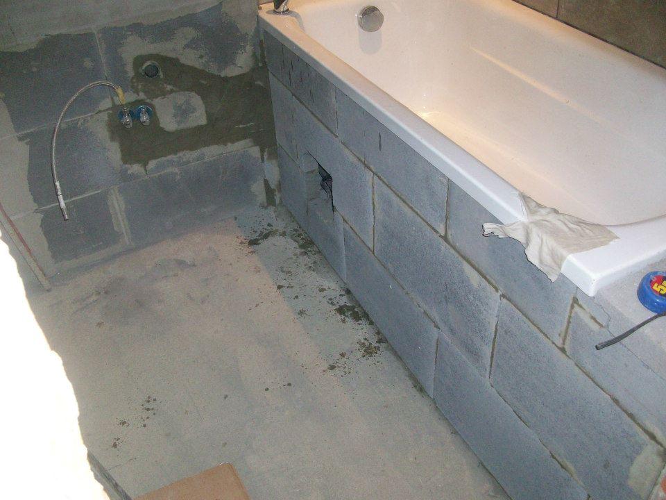 Rekonštrukcia kúpeľne - Voda urobená