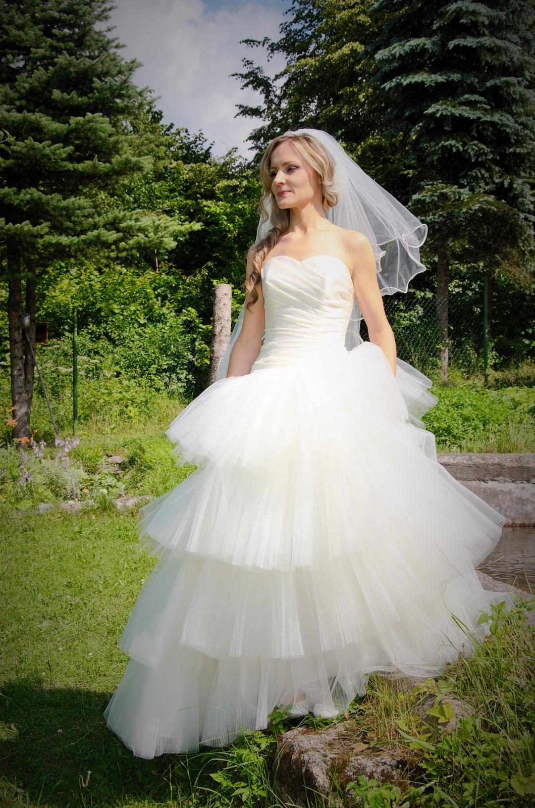 Svadobne šaty-modern wedding tulle dress - Obrázok č. 1