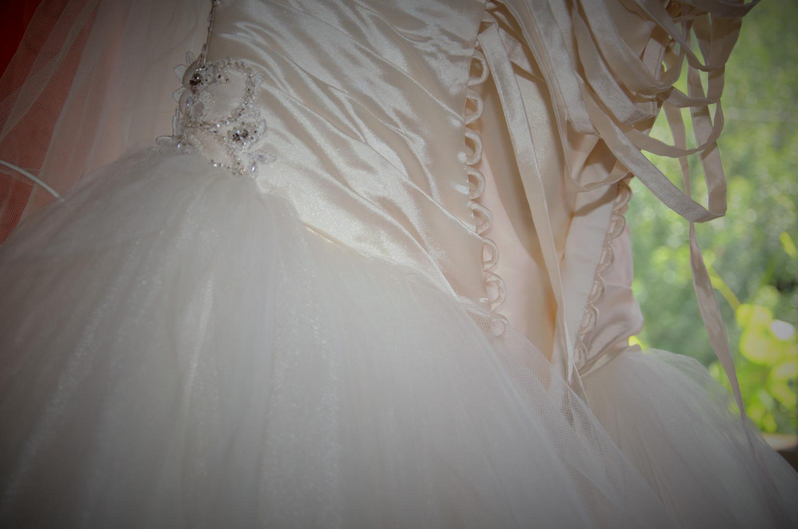 Svadobne šaty-modern wedding tulle dress - Obrázok č. 2