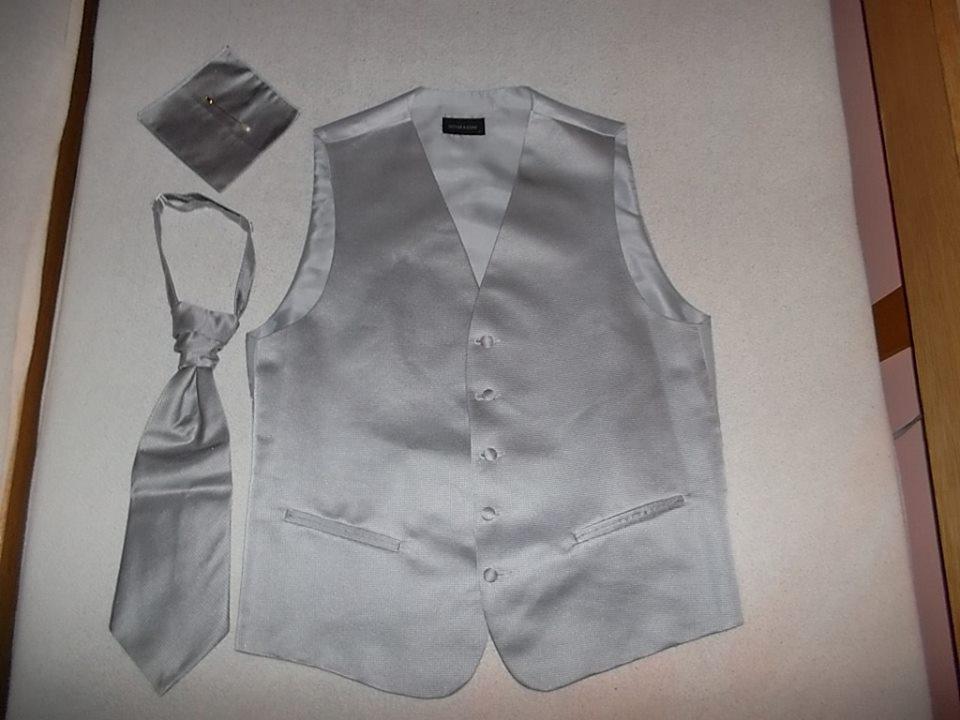 Svadobná francúzska pánska vesta s kravatou - Obrázok č. 4