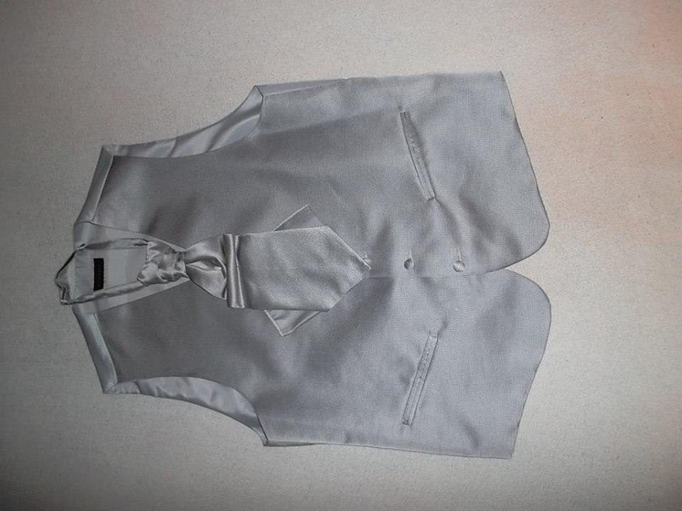 Svadobná francúzska pánska vesta s kravatou - Obrázok č. 2
