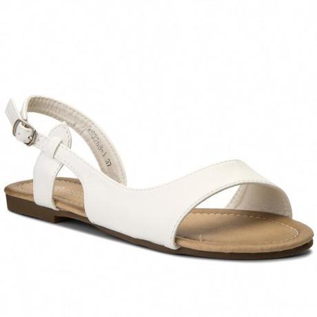Svadobné sandálky bez opätka - pre  vysoké nevesty - Obrázok č. 2