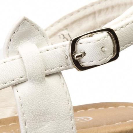Svadobné sandálky bez opätka - pre  vysoké nevesty - Obrázok č. 4
