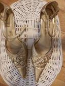 zlaté spoločenské sandále, 37
