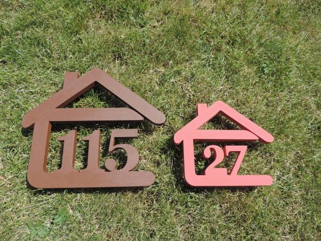 Originálne čísla na dom v domčeku - Obrázok č. 1
