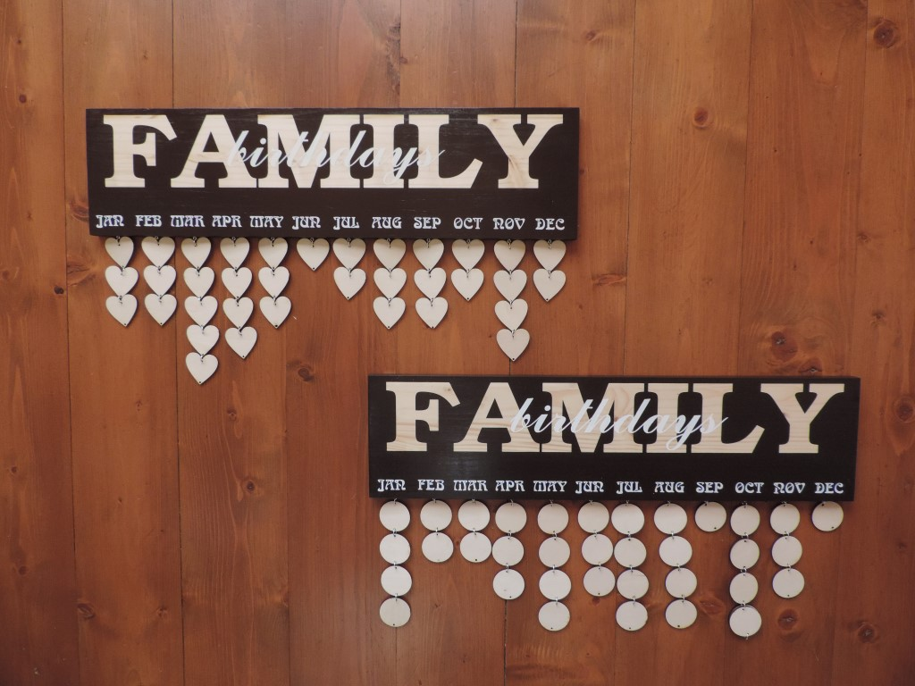 Rodinné dekoračné kalendáre - Obrázok č. 1