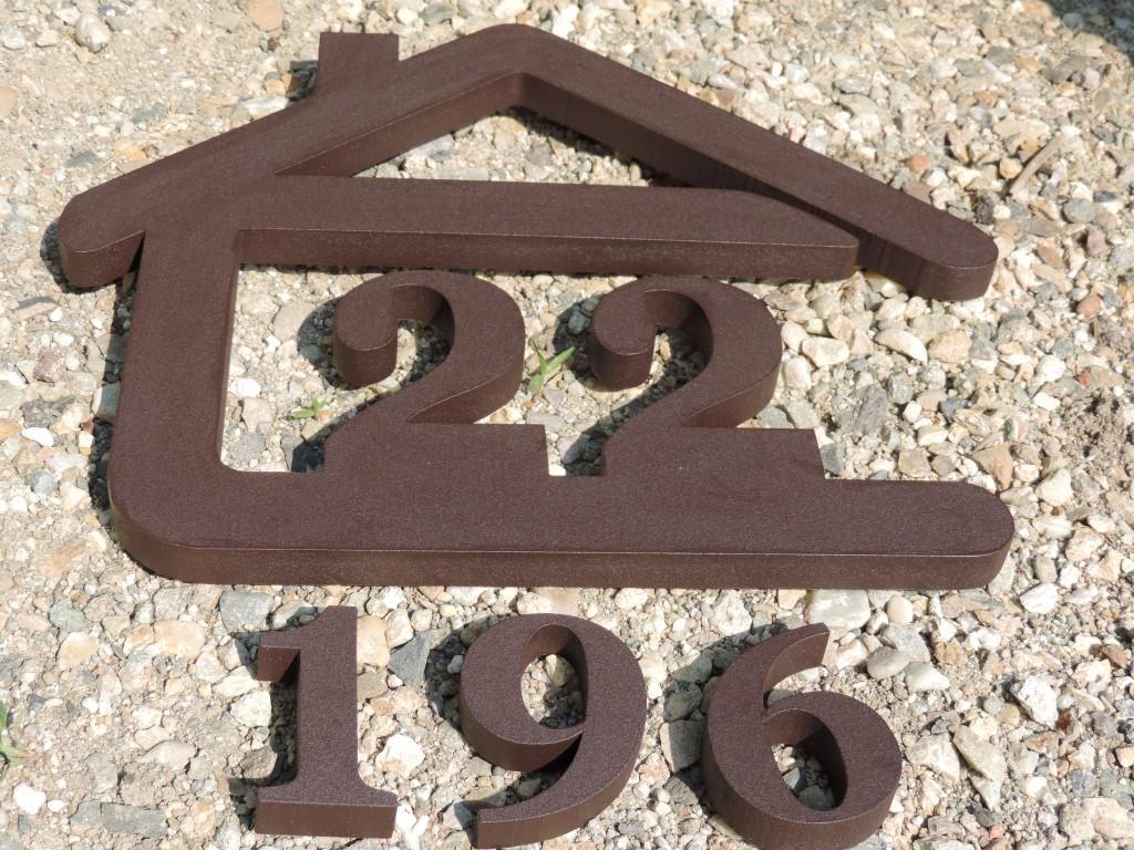 Originálne čísla na dom v domčeku - Súpisné a orientačné číslo