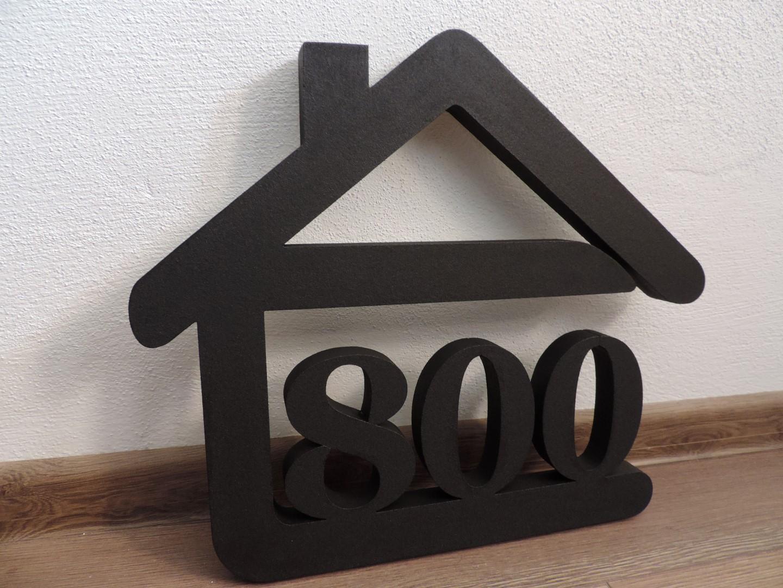 Originálne čísla na dom v domčeku - Obrázok č. 76