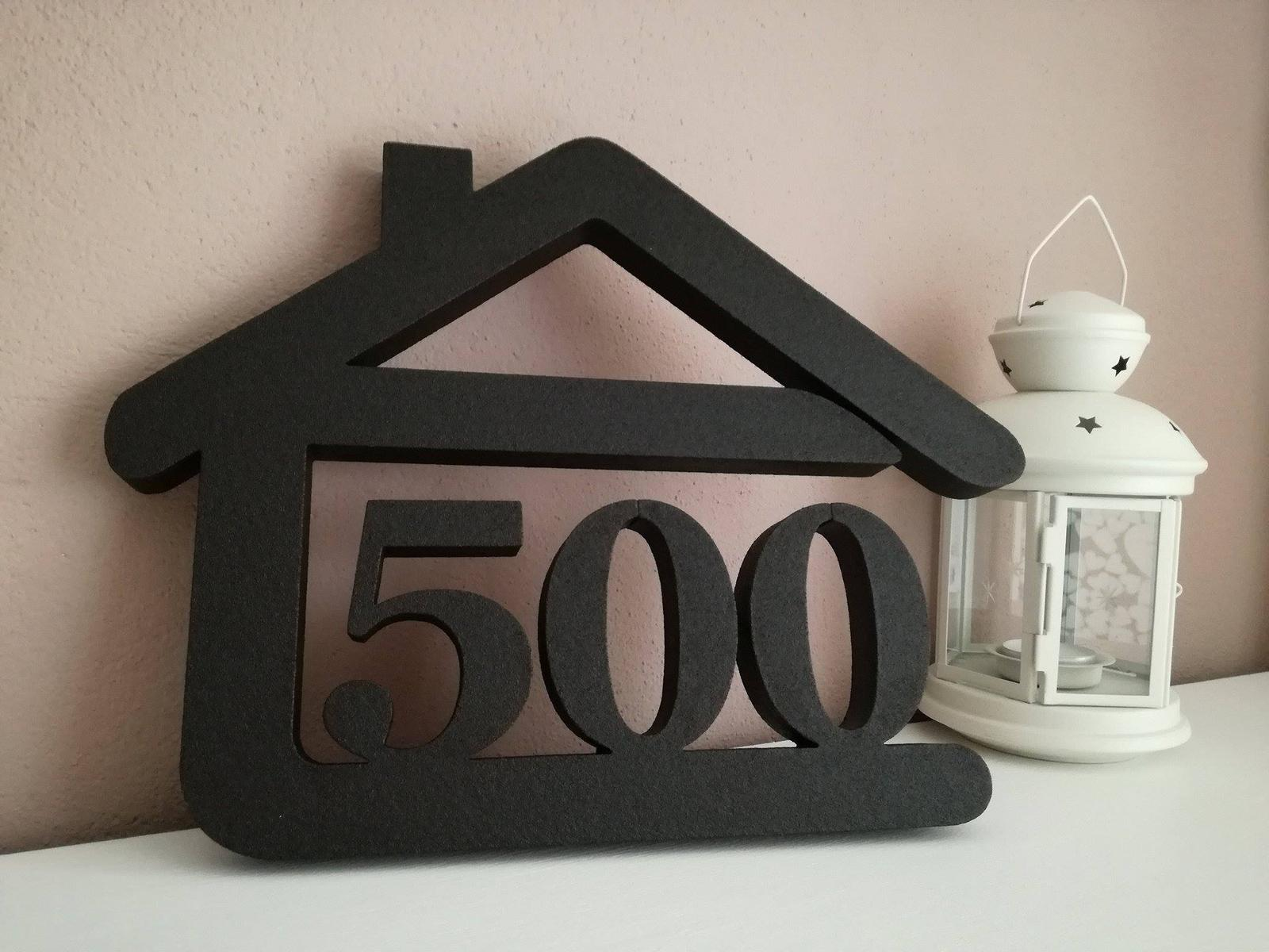 Originálne čísla na dom v domčeku - Obrázok č. 88