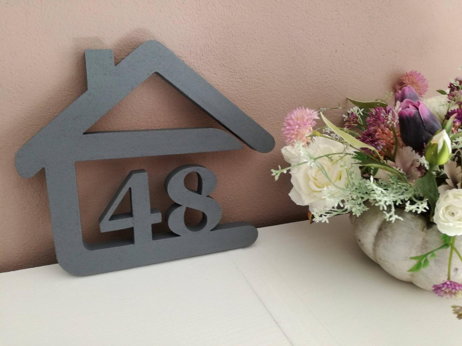 Originálne čísla na dom v domčeku - Obrázok č. 89