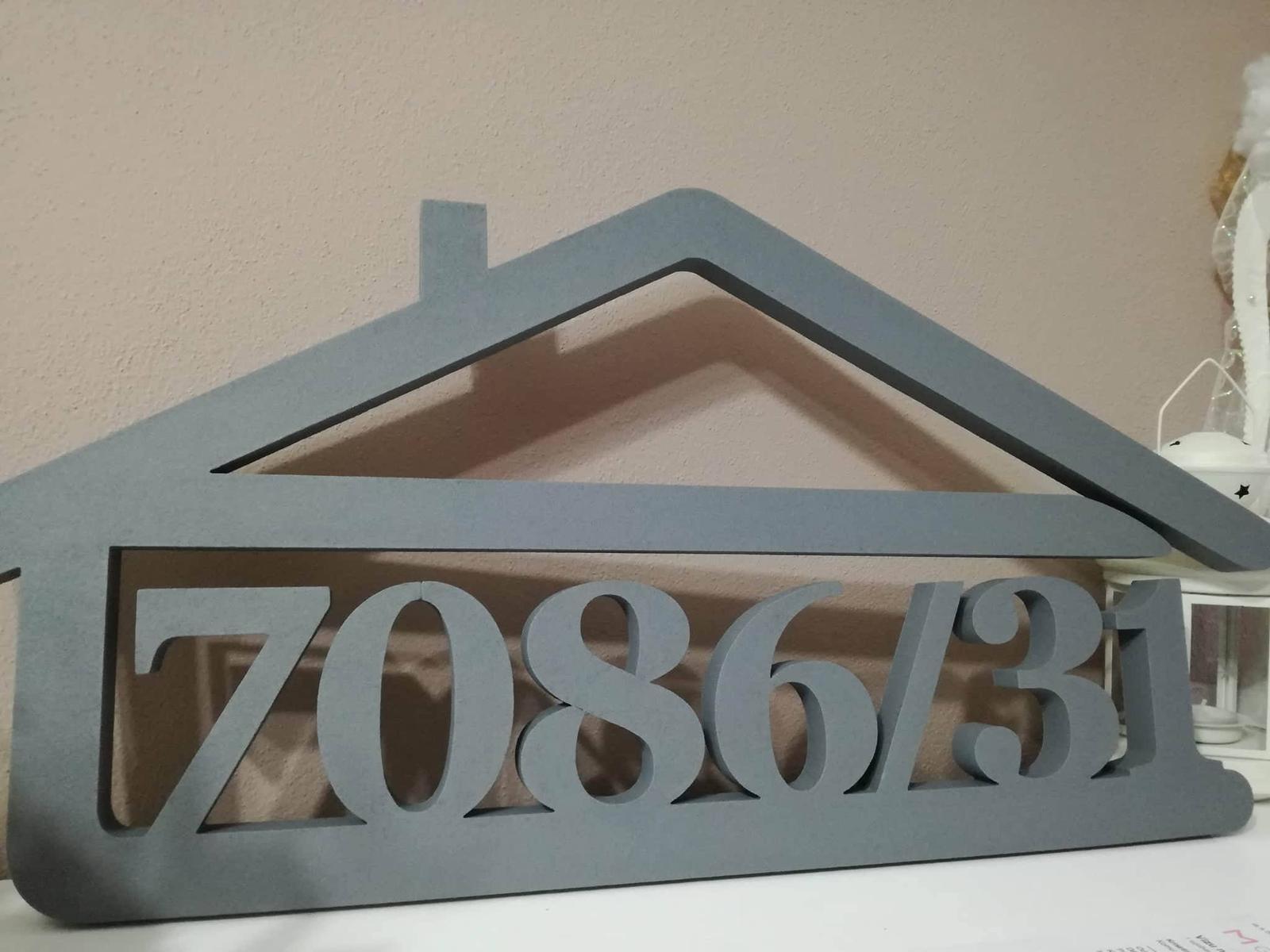 Originálne čísla na dom v domčeku - Obrázok č. 90
