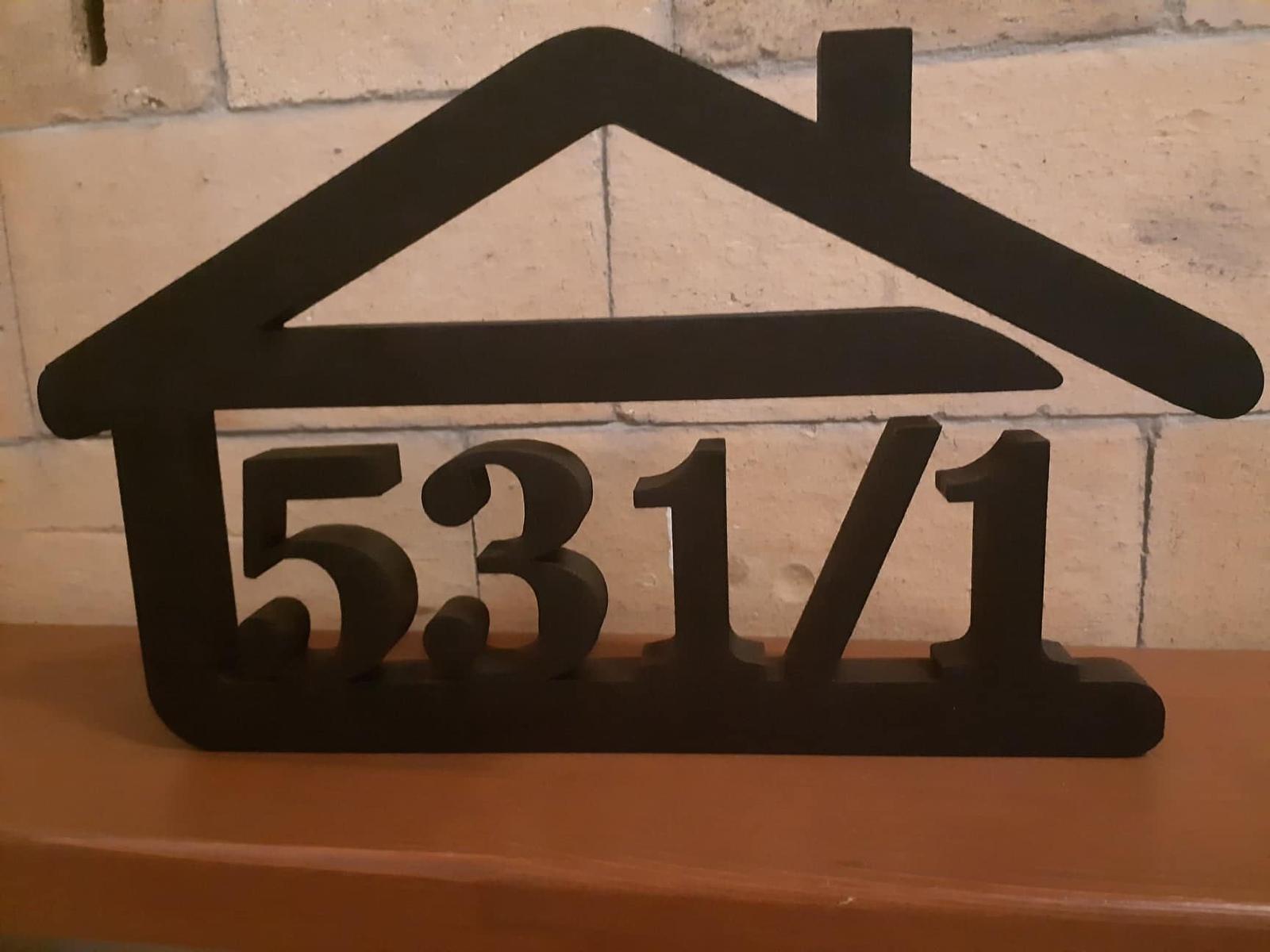 Originálne čísla na dom v domčeku - Obrázok č. 98