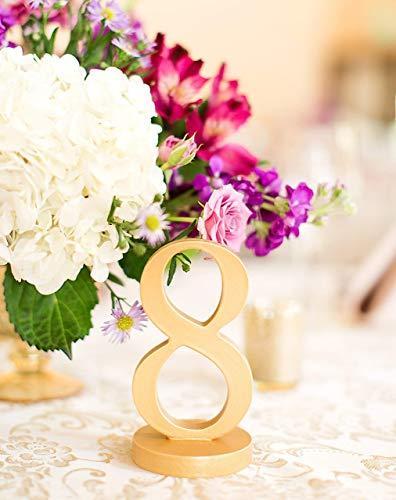 Zlaté čísla na stoly - Obrázok č. 2