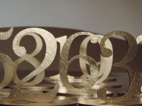 Zlaté čísla na stoly - Obrázok č. 5