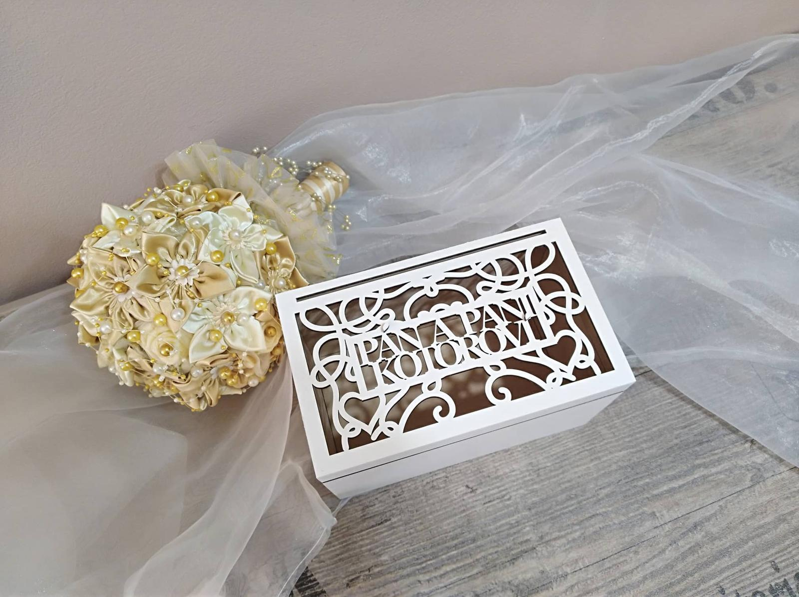 Drevená svadobná krabička - Obrázok č. 1