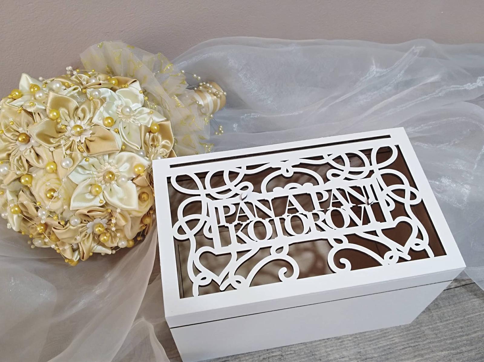 Drevená svadobná krabička - Obrázok č. 2