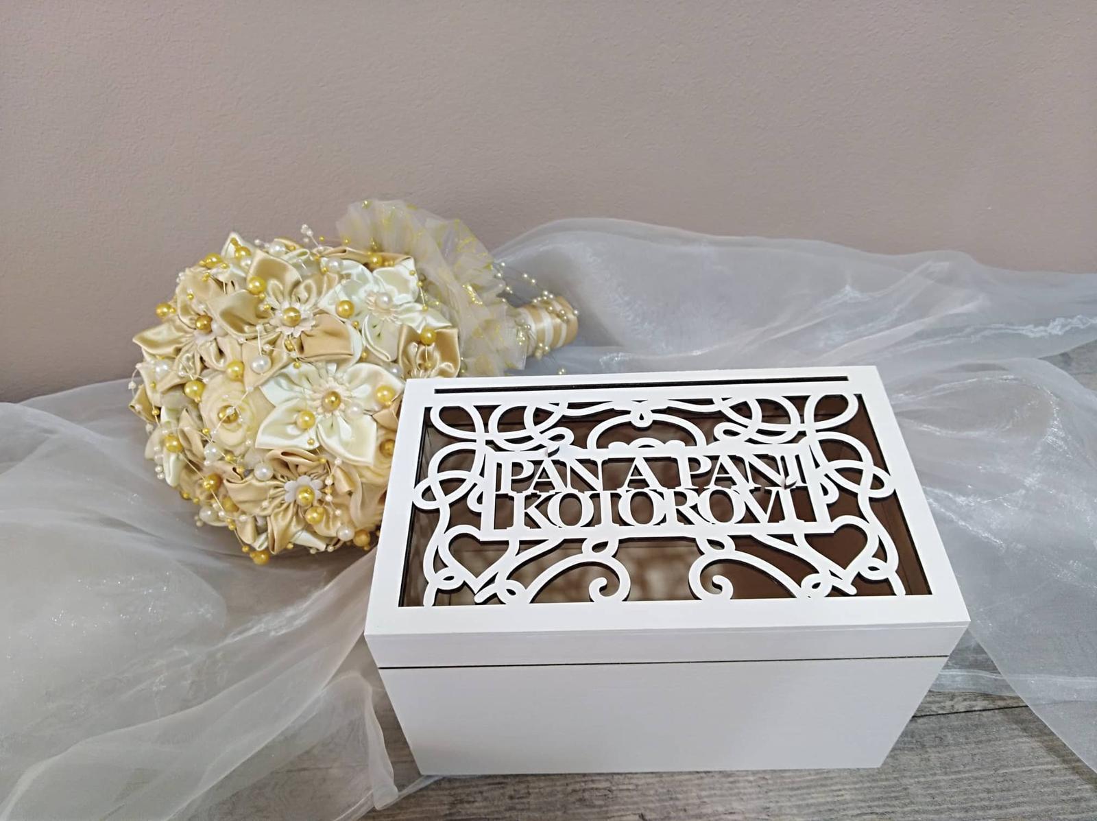 Drevená svadobná krabička - Obrázok č. 3
