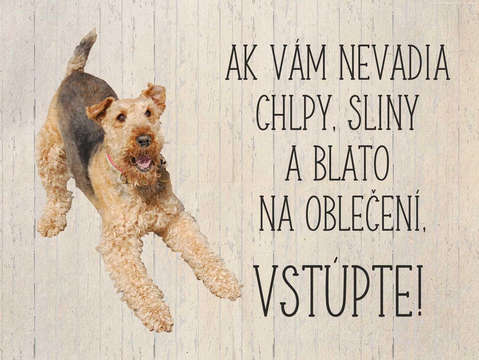 Tabuľka : Pozor pes! - Obrázok č. 1