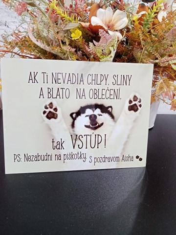 Tabuľka : Pozor pes! - Obrázok č. 14