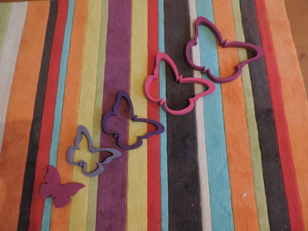 Detská dekorácia na stenu -motýle - Obrázok č. 1