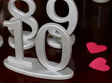 Strieborné čísla na svadobný stôl - Obrázok č. 1