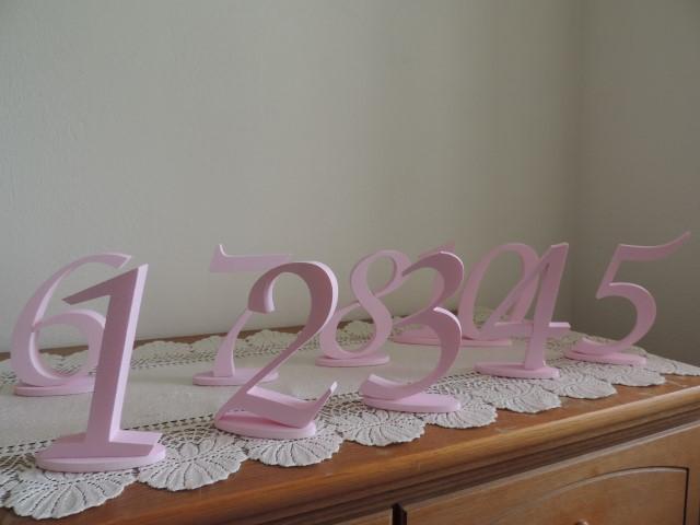 Čísla na svadobný stôl - Obrázok č. 3