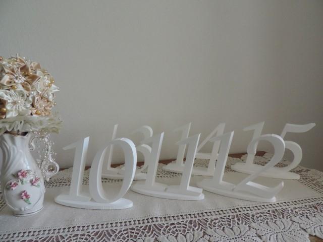 čísla na svadobný stôl  - Obrázok č. 2