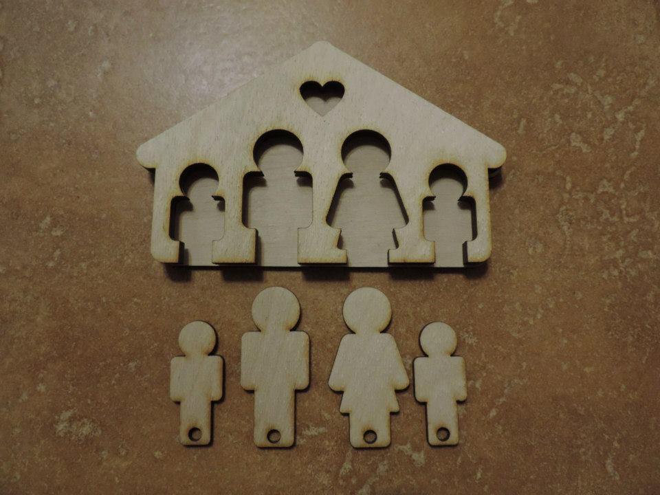 Rodinná kľúčenka - Obrázok č. 1
