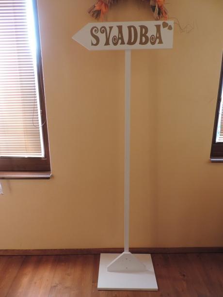 Smerová tabuľa na svadbu - Obrázok č. 3