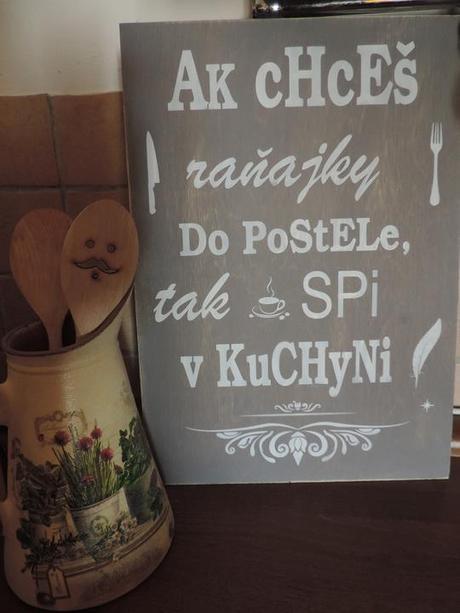 Tabuľa s nápisom do kuchyne - Obrázok č. 1