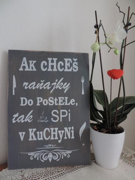 Tabuľa s nápisom do kuchyne - Obrázok č. 3