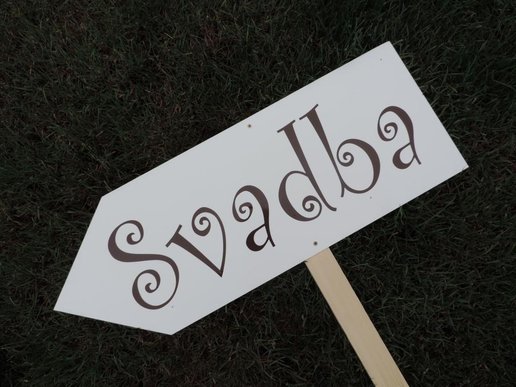 Smerová tabuľa SVADBA - Obrázok č. 3