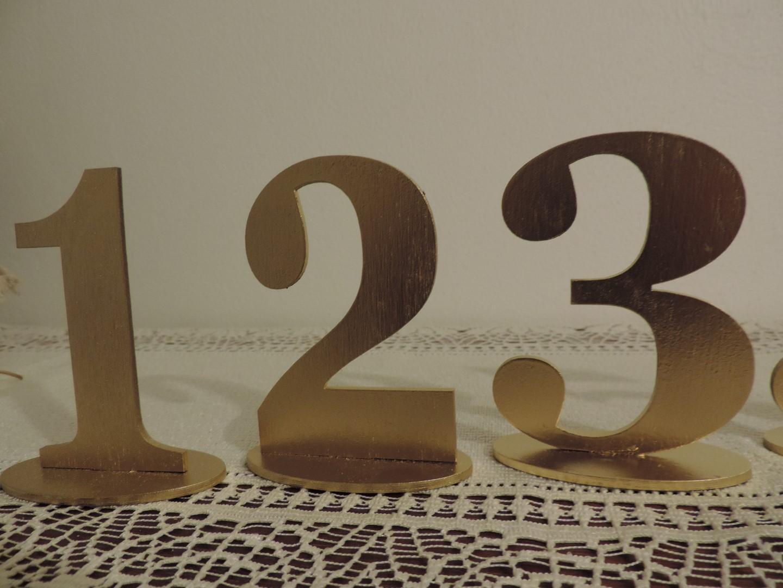 Zlaté čísla na svadobné stoly - Obrázok č. 1