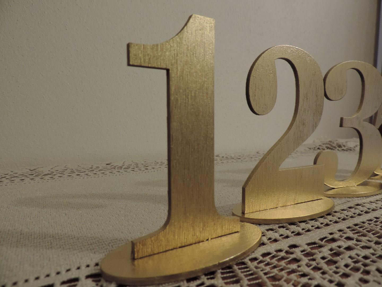 Zlaté čísla na svadobné stoly - Obrázok č. 2