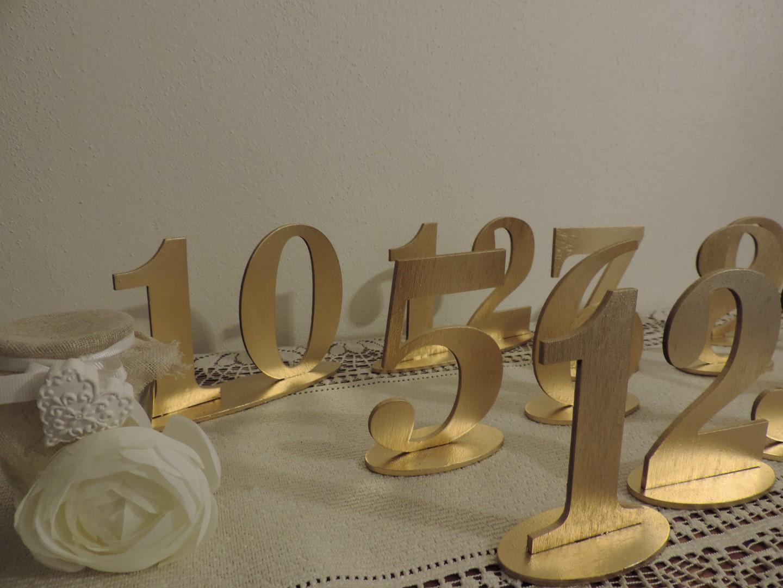 Zlaté čísla na svadobné stoly - Obrázok č. 3