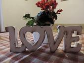 Nápis Love 15cm,