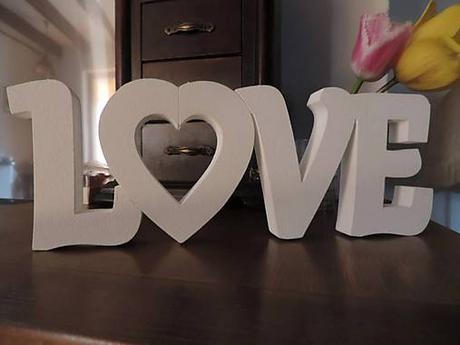 Nápis Love 15cm - Obrázok č. 3